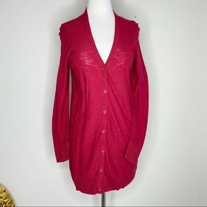 Torrid cranberry red cardigan sweater size 00